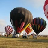 Balloons launching into West Texas skies