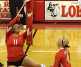 Lobos Volleyball win against Hardin-Simmons