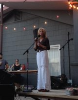 Wendy Davis at El Cosmico in Marfa (Courier Photo: Richard Mark Glover)