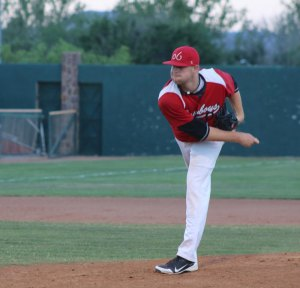 Josh Cruse was named player of the game against the Douglas Diablos. Cruse picked up the win and Ryan Rogers notched a save.(Courier Photo: Bryon Garrison)