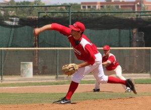 Pat Lemmo pitches a five hit shot out. (Courier Photo: Bryon Garrison)